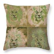 Lion X 4 One Throw Pillow
