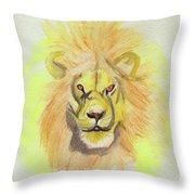 Lion Yellow Throw Pillow