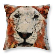 Lionart Throw Pillow