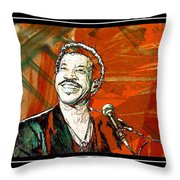 Lionel In Red Throw Pillow