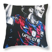 Lionel Messi - Barceona Fc 2  Throw Pillow