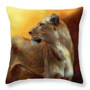 Lioness Is Near Throw Pillow