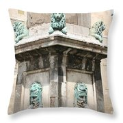Lionfountain - Part Of The Obelisk - Arles Throw Pillow