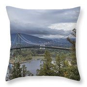 Lions Gate Bridge From Stanley Park Throw Pillow
