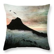 Lion's Head Cape Town Throw Pillow