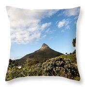 Lion's Head Throw Pillow by Fabrizio Troiani
