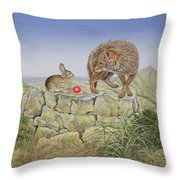 Lions Hotel Throw Pillow