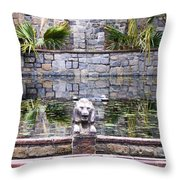 Lions In The Renaissance Court Fountain 2 Throw Pillow