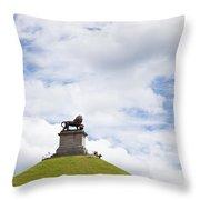 Lions Mound Memorial To The Battle Of Waterlooat Waterloo Belgium Europe Throw Pillow by Jon Boyes