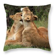 Tenderness In The Wild Throw Pillow