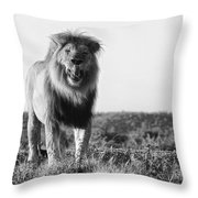 Lip Lickin Good B And W Throw Pillow