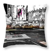 Lip Smack Nyc Throw Pillow