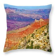 Lipan Point View On East Side Of South Rim Of Grand Canyon-arizona   Throw Pillow