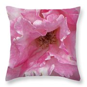 Lips Of A Rose Throw Pillow