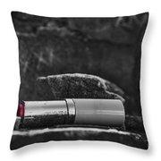 Lipstick - Bw  Throw Pillow