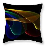 Liquid Colors Throw Pillow