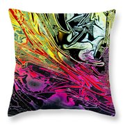 Liquid Decalcomaniac Desires 1 Throw Pillow