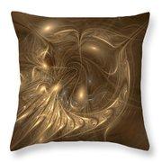 Liquid Gold Throw Pillow