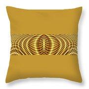Liquid Gold 1 Throw Pillow
