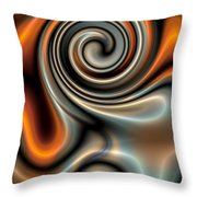 Liquid Mercury And Rust 2 Throw Pillow