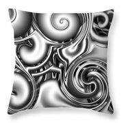 Liquid Metal Throw Pillow