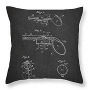 Liquid Pistol Patent Throw Pillow