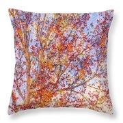 Liquidambar Square Abstract Throw Pillow