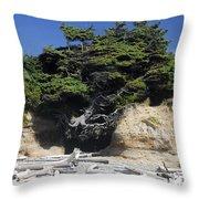 Den Of The Coastal Bigfoot Throw Pillow