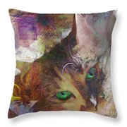 Lisa Beckons - Square Version Throw Pillow