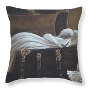 Lisa's Gown Throw Pillow