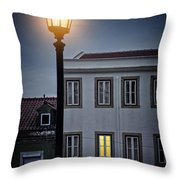 Lisbon Street Lamp Throw Pillow