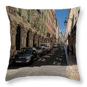 Lisbon Street Throw Pillow