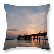 Listen To The Waves Throw Pillow