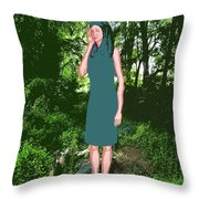 Listening To The Silence 3 Throw Pillow