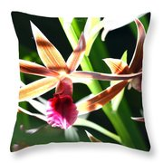 Lit Up Orchid Throw Pillow