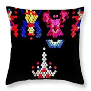 Lite Brite - Galaga Throw Pillow