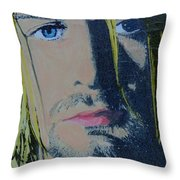 Literally Kurt Cobain Throw Pillow