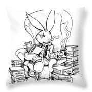 Literary Playboy Throw Pillow
