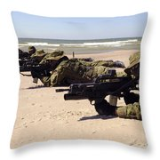 Lithuanian Special Forces Members Lie Throw Pillow