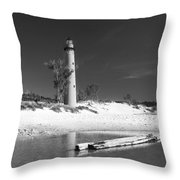 Litle Sable Light Station - Film Scan Throw Pillow
