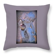 Little Angels Light The Way Throw Pillow by John Malone