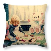 Little Artist Throw Pillow