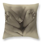 Little Bambino Toes Surrounded By Love Throw Pillow