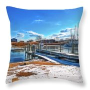 Little Beach Cove Throw Pillow