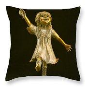 Little Bear Dancer Throw Pillow