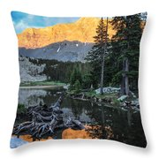 Little Bear Peak And Lake Como Throw Pillow by Aaron Spong