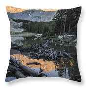 Little Bear Peak Reflection Throw Pillow