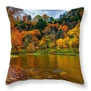 Little Beaver Creek Bend Throw Pillow