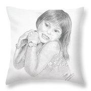 Little Bella Throw Pillow