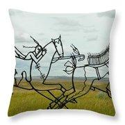 Little Bighorn Battlefield Throw Pillow